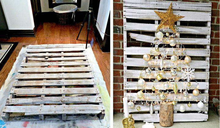 Новогодняя елка из палетки