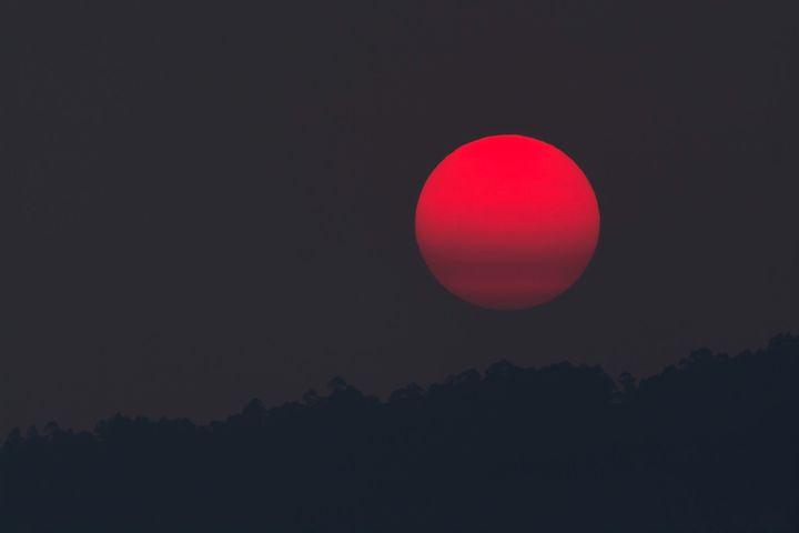 Как выглядит кровавая луна