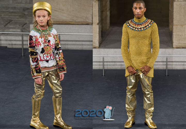 Золотые брюки от Шанель мужская мода 2020 года