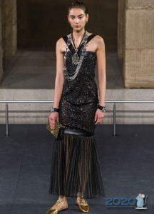 Вечернее платье Шанель с юбкой плиссе