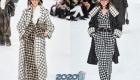 Модная клетка от Шанель на зиму 2019-2020