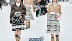 Платье с геометрическим принтом Шанель осень-зима 2019-2020