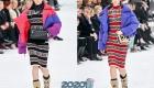 Узкие трикотажные платья Шанель осень-зима 2019-2020