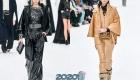 Модные брючные костюмы Шанель зима 2019-2020