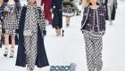Модные брючные костюмы из твида Шанель зима 2019-2020
