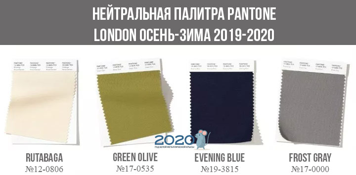 Базовая палитра Лондон осень-зима 2019-2020