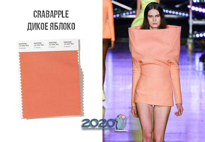 Crabapple (№16-1532) цвет Пантон зима 2019-2020