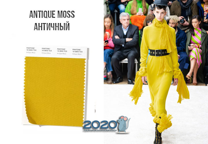 Antique Moss (№16-0840) цвет Пантон зима 2019-2020