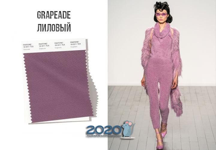 Grapeade (№18-3211) цвет Пантон зима 2019-2020