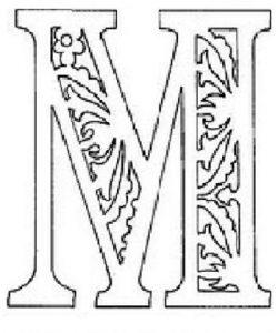 """Шаблон буквы м для надписи """"С Новым Годом 2020"""""""