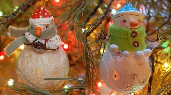 Снеговички из лампочек инструкция изготовления