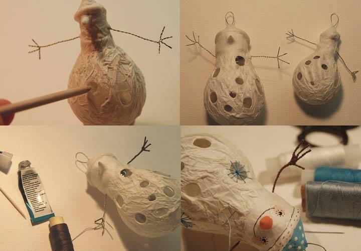 Как сделать снеговички из лампочек на 2020 год своими руками пошаговая инструкция
