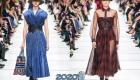 Платье с юбкой гофре осень-зима 2019-2020