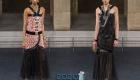 Платье с юбкой гофре Шанель осень-зима 2019-2020