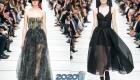 Прозрачное новогоднее платье на 2020 год