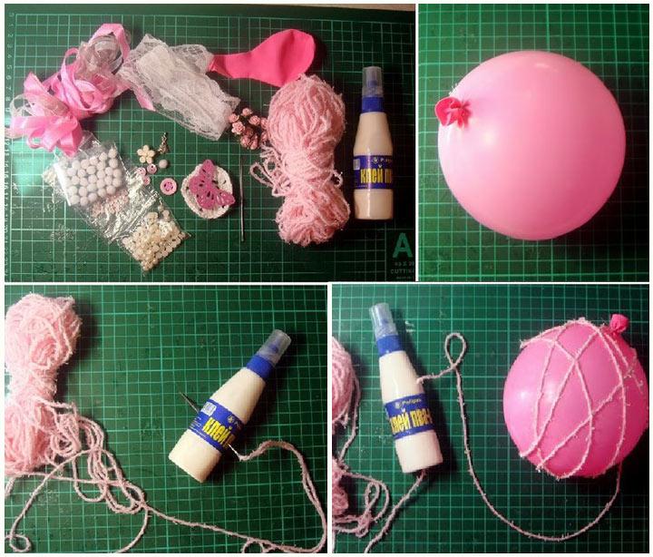 Изготовление нитяного шара инструкция