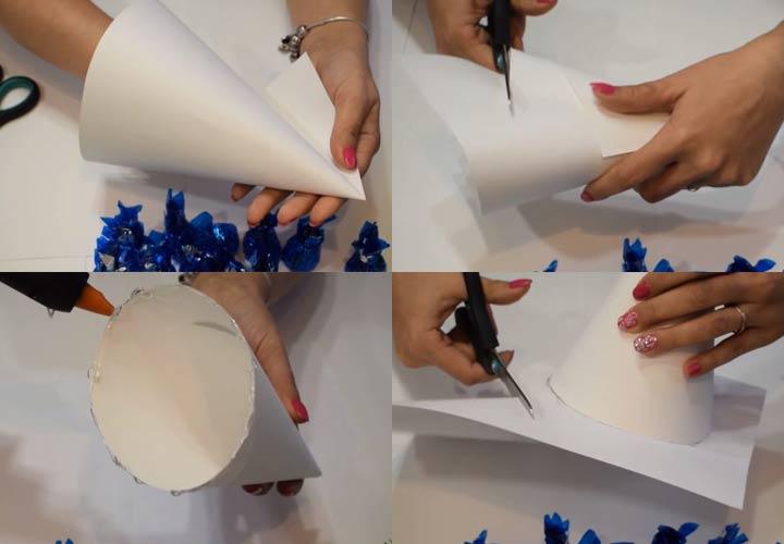 Елочка из конфет на Новый 2020 год пошаговая инструкция шаг 1