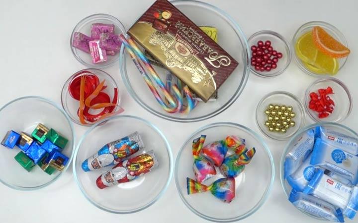 Как сделать сани из конфет на 2020 год