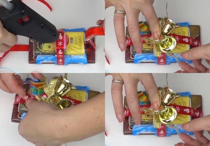 Сани из конфет пошаговая инструкция шаг 2