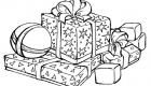 Раскраска новогодние подарки 2020