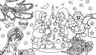 Рисунок раскраска для Деда Мороза на 2020 год