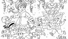 Раскраска 2020 для Деда Мороза