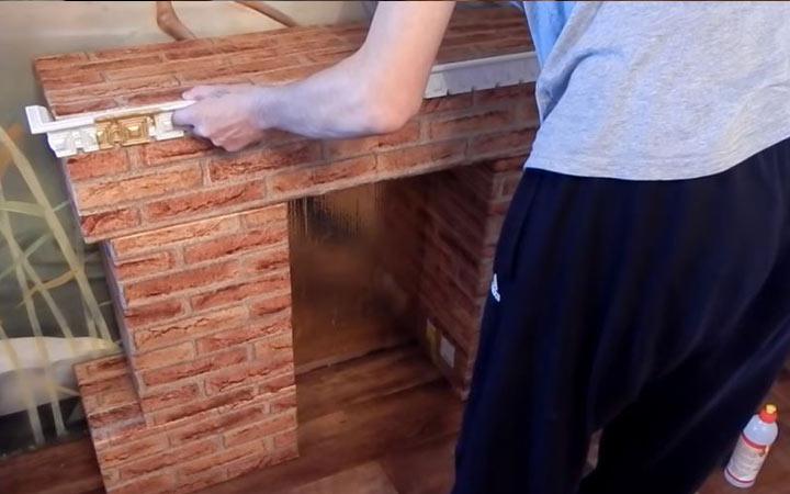 Камин из картонных коробок пошаговая инструкция шаг 8