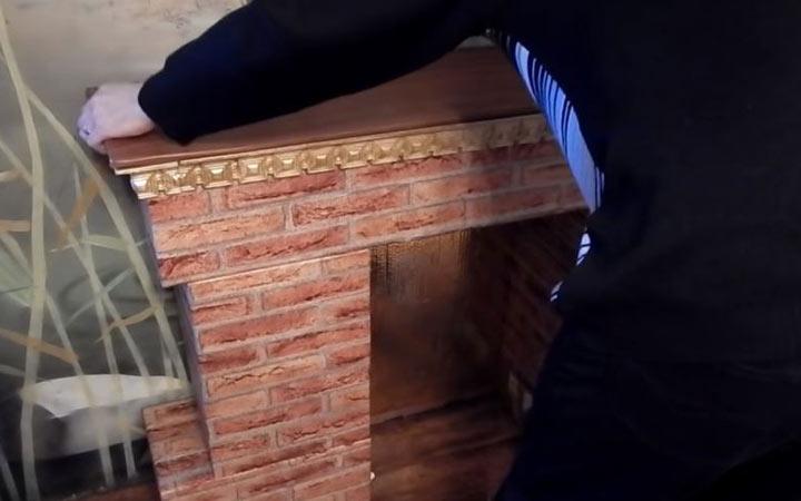 Камин из картонных коробок пошаговая инструкция шаг 9