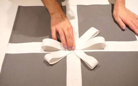 Подушка с бантом своими руками инструкция шаг 6