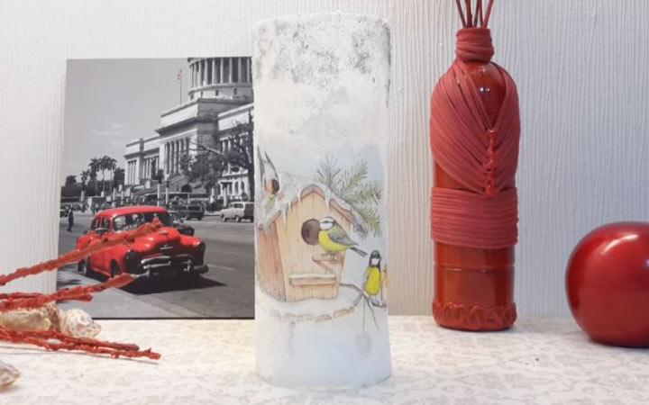 Новогодняя ваза своими руками
