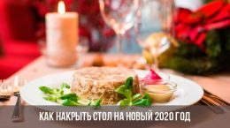 Как накрыть стол на Новый 2020 год