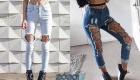 Колготки с джинсами  - мода 2020 года