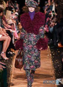 Пальто с цветочным принтом осень-зима 2019-2020