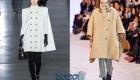 Модный короткий кейп вместо пальто мода зимы 2019-2020 года
