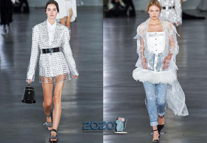Модные прозрачные пальто - трнед 2020 года