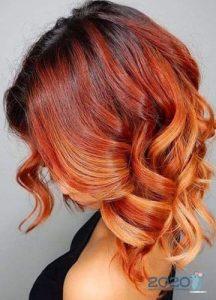 Модный каскад на рыжие волосы зима 2019-2020