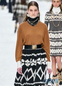 Модные свитера от Шанель зима 2019-2020
