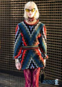 Красивое платье-свитер 2020 года