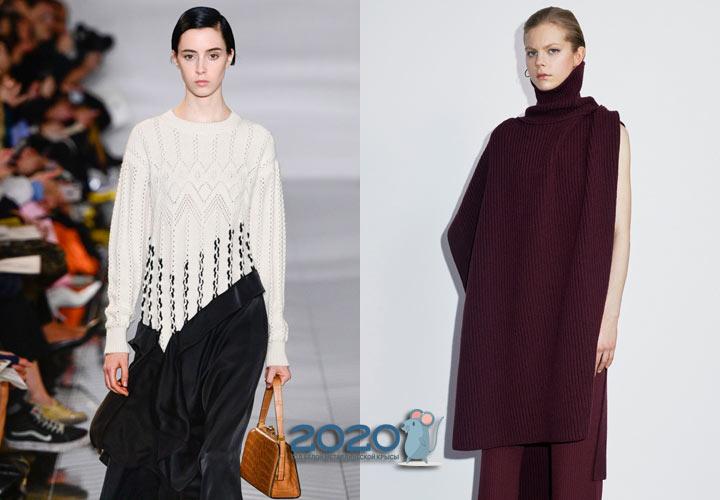Асимметричные свитера зимы 2019-2020