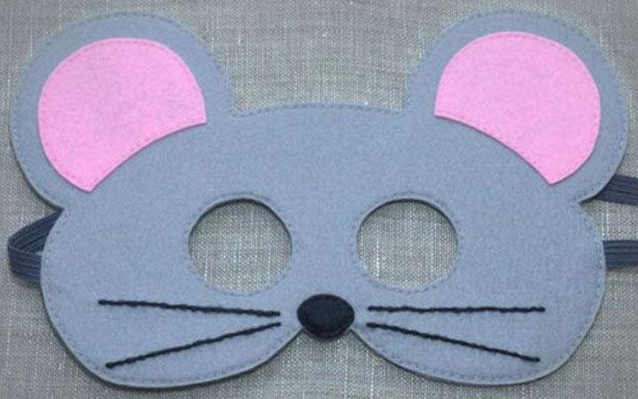 Новогодняя маска мышки на 2020 год