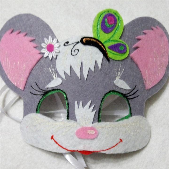 Детская новогодняя маска своими руками на 2020 год