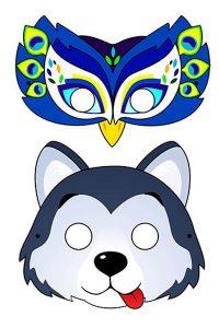 Новогодняя маска 2020 для ребенка лист 11