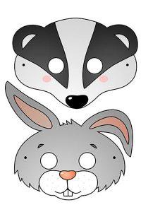 Новогодняя маска 2020 для ребенка лист 9