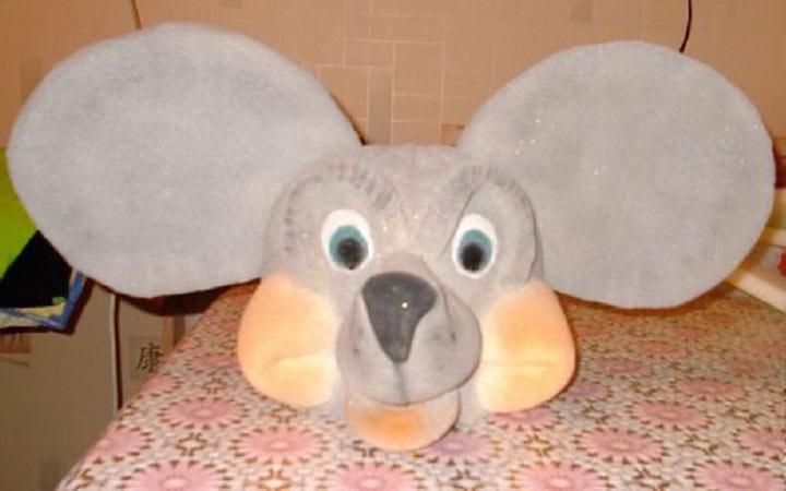 Поролоновая шапка-маска мышки на 2020 год
