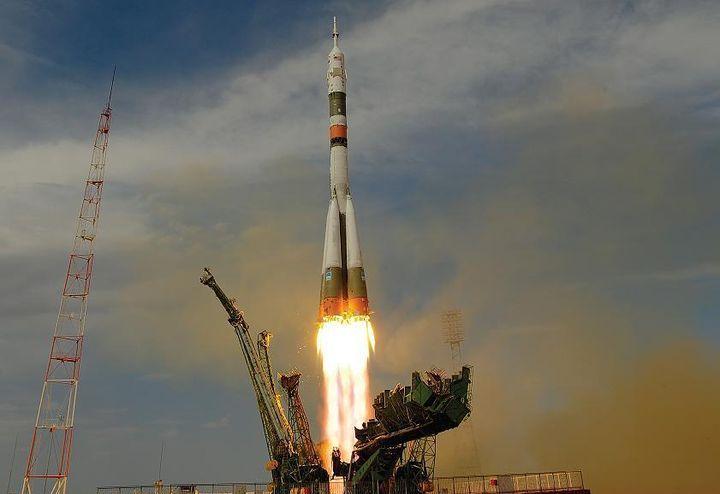 Взлет космической ракеты