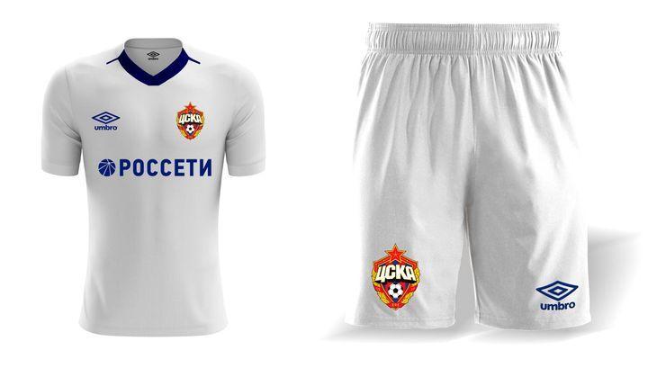 Гостевой комплект формы ЦСКА на сезон 2019-2020 года