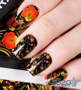Хохломская роспись ногтей мода 2019-2020 года