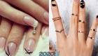 Модные колечки и подвески для ногтей