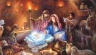 Красивая классическая картинка на Рождество Христово