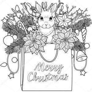 Рождественская открытка своими руками шаблон-раскраска